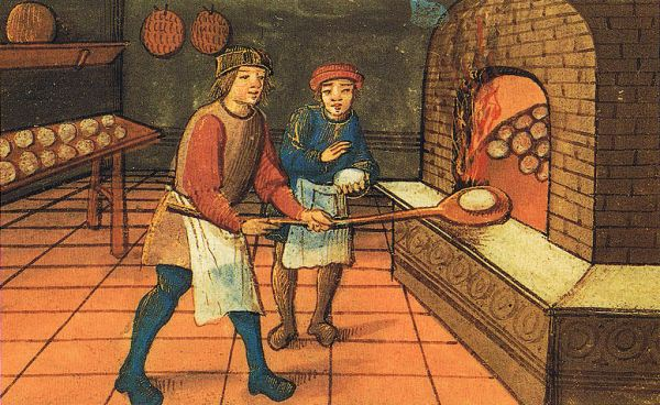 Medieval Baker with Apprentice