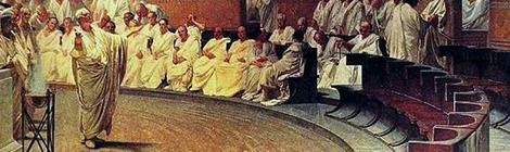 Detail of Cicero Denounces Catiline by Palazzo Madama (1889)